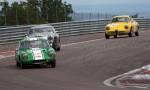 36 Lotus Elite,41 Austin Healey 3000,12 Alfa Roméo Giulia SZ