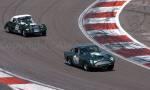 38 Aston Martin DB4GT,42 Morgan +4 Supersport