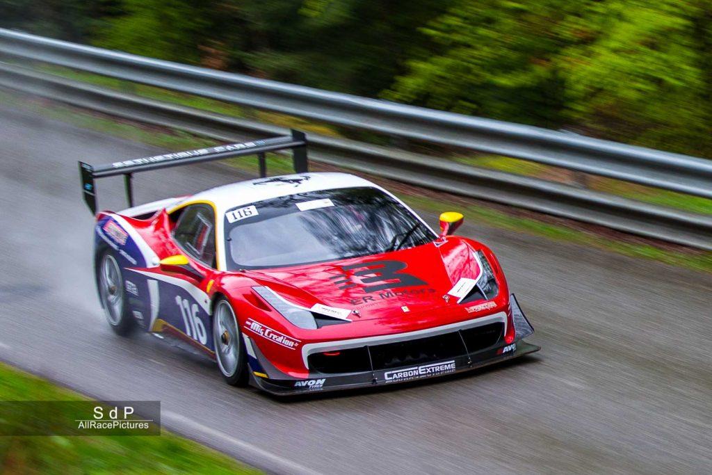 Vincet Lagarche et sa Ferrari 458 Challenge